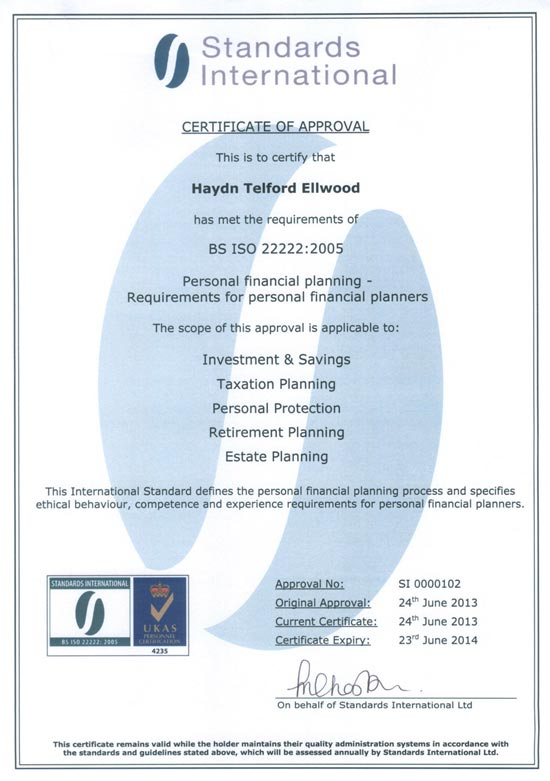 Congratulations To Haydn Ellwood For Being Accredited With The