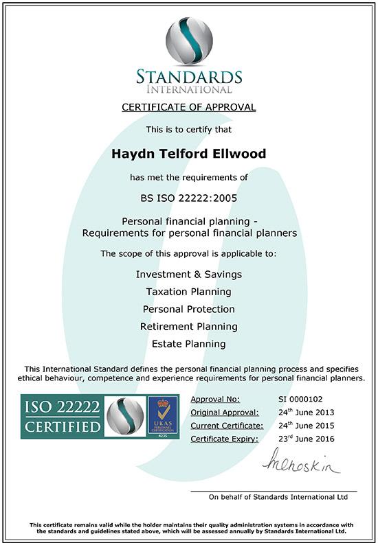 Haydn-Ellwood-ISO-22222-Certificate-2015